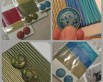 SOUTACHES Buttons Kit-Creative material-button set-plates and buttons-set kit-