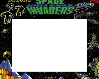 Space Invaders Deluxe Arcade Monitor Bezel/Sticker/Decal