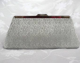 Silver gray wedding clutch purse/ Bridal accessory, Spring wedding purse clutch/Gift for her/ Bridal shower/ Prom purse