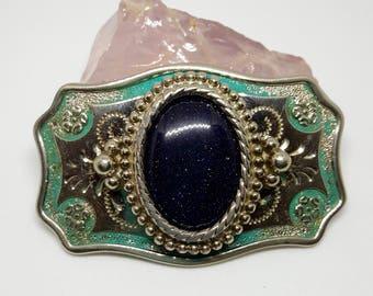 Vintage Blue Sandstone Belt Buckle