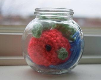 Cute mini customizable Pet Goldfish Fish bowl aquarium Gift