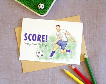 Special for FIFA World Cup Season - Football Card, Congratulations Card, Blank Greeting Card, Note Card, Inspiring Card