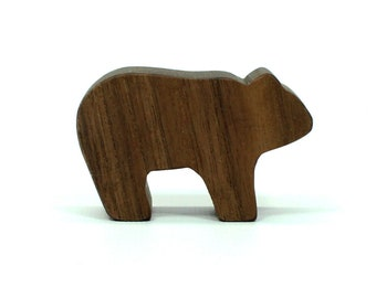 Toy Bear Cub, Natural Wood Bear Toy, Woodland Animal, Forest Animal, Kids Toy. Wooden Toy, Bear Figure, Bear Toy Figurine