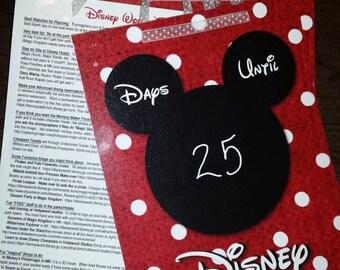 Printable Disney Countdown with Tips
