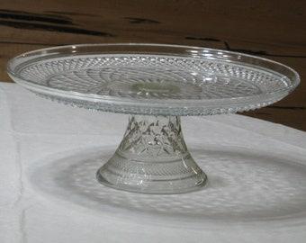 Vintage Anchor Hocking Wexford Pedestal Cake Plate