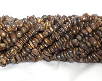 Bronzite Chip Beads 5x8mm on String