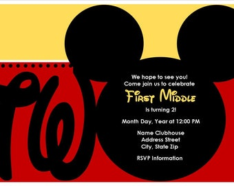 DIGITAL - Mickey Mouse 2nd Birthday Invitation