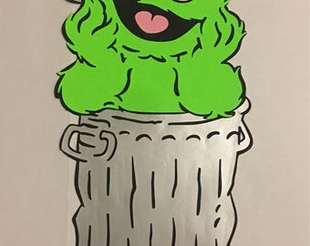 Large oscar the grouch from sesame street birthday decoration 2 ft tall