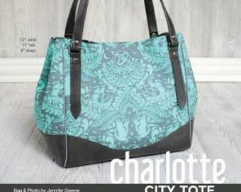 Swoon Charlotte City Tote Handbag Sewing Pattern