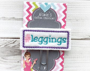 Leggings Paper Clip - #leggings Feltie -Planner Paper Clip  - Planner Accessories - Leggings Feltie - #leggings