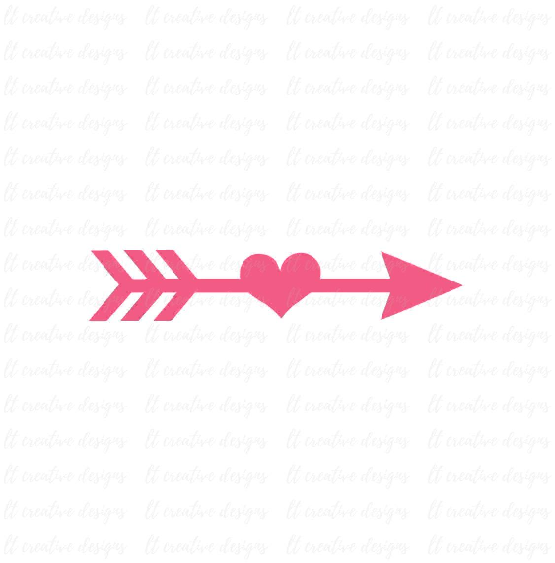 Arrow SVG Arrow Heart SVG Arrow Cutting File Arrow Clipart