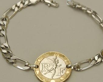 France Coin Bracelet 1990 Spirit of Freedom