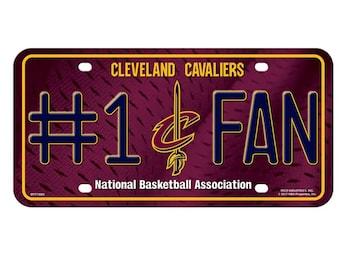 Cleveland Cavaliers NBA #1 Fan Metal License Plate