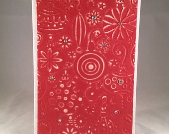Set of 5 Christmas Ornaments CLASSIC Christmas Cards