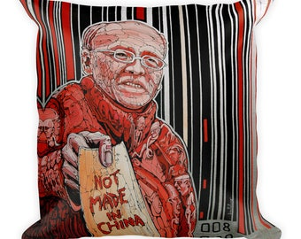 No Made in China by Dan Colcer - Art Pillow