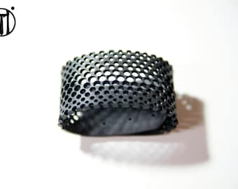 Upcycling!! inner tube bracelet, hand made lace!