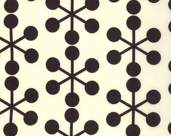 1/2 Yard, Comma, Zen Chic, Black on Ivory,  Asterisks in Ink, Moda, Brigitte Heitland, quilting cotton, fabric destash, fabric sale
