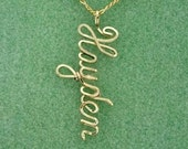 Personalized Name Drop Necklace in Gold Wire