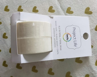 Project Life - Becky Higgins - White Washi Tape - 15 Yards Total - American Crafts