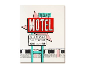 Romantic Card - Valentine Motel