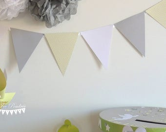 12 Bunting green anise-grey - white 155cm