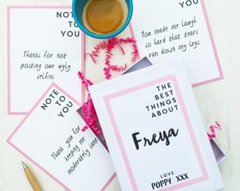 Best Friend cards - best friend gift - note cards - keepsake box - memory cards - memory box - friend birthday gift - friend gift - cards
