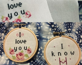 Star Wars Han and Solo cross stitch set