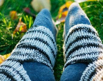 Yoga Socken gestrickt, Socken Wolle für Yoga, Tanz Socken stricken