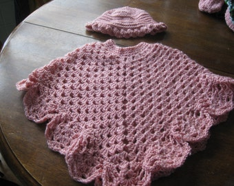 Angel Wings Poncho and Hat set