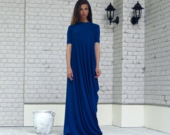 Blue Dress, Blue Maxi Dress, Summer Dress, Blue Long Dress, Plus Size Clothing, Maxi Long Dress, A line Long Dress, Dresses, Dress Women