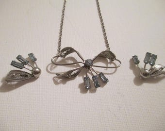 Sterling and blue Topaz Jewelry Set