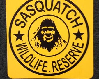 Sasquatch Wildlife Reserve Metal Sign