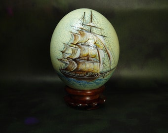 Special Order, Hand Painted Ostrich Egg, Hand Painted Egg, Egg Art