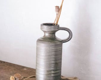 Stoneware Vase with Handle