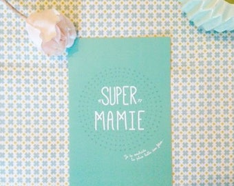 "Card ""Super Grandma"", you're my little ray of sunshine"