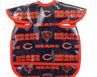 Bears Apron Bib Navy Orange
