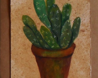 Cactus Card Hand Painted Greeting Cards Hand Painted Cactus Card Cactus Greeting Card Cactus Greeting Card