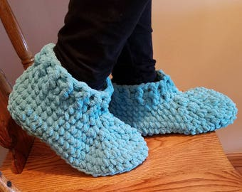 Crocheted Blanket Slippers