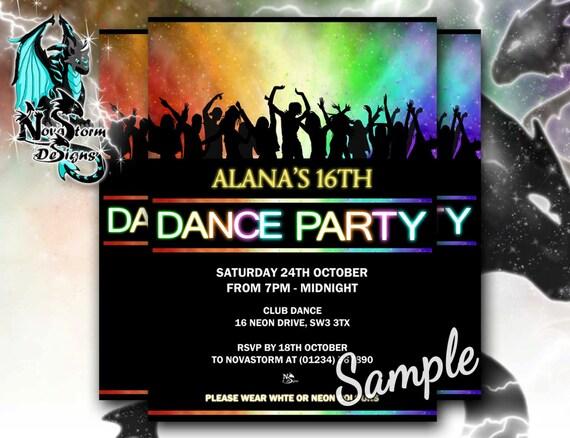 Club Party Invitations Grude Interpretomics Co
