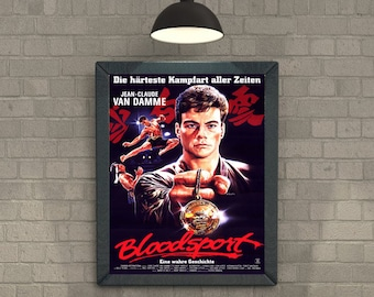 Bloodsport (1988) Van Damme classic Action Movie Cover Poster
