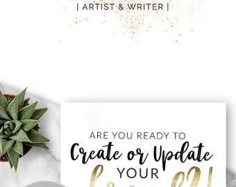 Premade Logo Design, Branding, Blog Header, Blog Title, Business, Boutique, Gold, Sparkle, Spots, Splatter, Glitz, Photographer Logo - 332