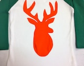 Boys Deer Applique-Boys Deer Baseball Tee- Boys Basebal...