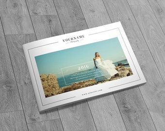 Wedding Photography Catalog/Brochure Template for Professional Photographer | Photography Brochure A5 Size 24 Pages-PSD  | Instant Download
