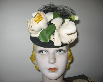 NEW LISTING / 1930's-40's Pompadour Hat, New York Creation Label!
