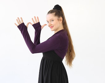 Purple Shrug|Purple Bolero|Purple Shrugs Bolero|Long Sleeve Shrug|Bolero Jacket|Bridal Shrug|gift for sister|holiday gift|best yoga gift