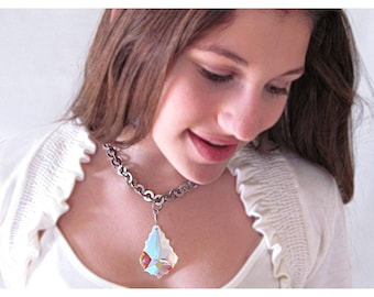 Statement Necklace, Swarovski Crystal, Crystal Necklace, Crystal Jewelry, Rachel Flam Design, Gift for Her
