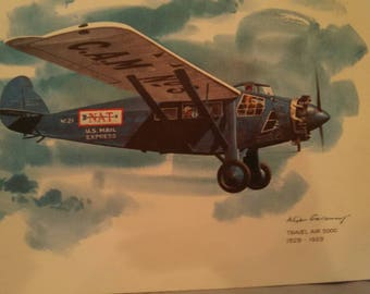 United Airlines Collector Prints: 5 prints + original packaging