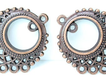 Set of 2 spacer in color antique-copper