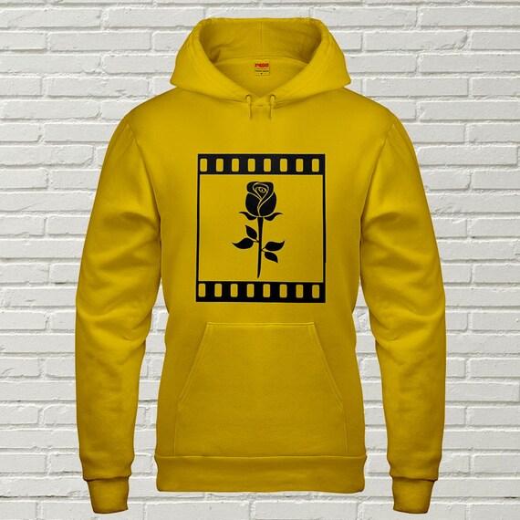 Men's Rose Hoodie • Rose Embroidered Sweatshirt • Rose Embroidery Men's Clothing • Men's Hoodie • Tumblr Hoodie • g185black FTb1ZMrv