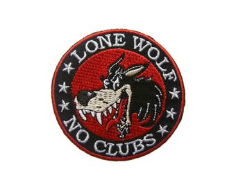 Wolf Iron On Patch Animal Embroidered Applique Patches For Jackets
